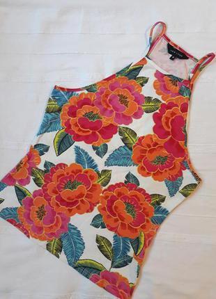 New look новая#фирменная#яркая майка#топ#футболка в цветы цветочный принт.