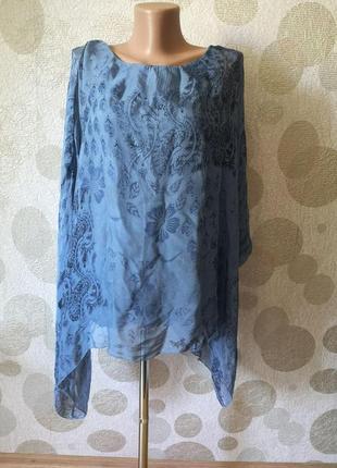Шелковая блуза накидка балахон итальянского бренда ambra