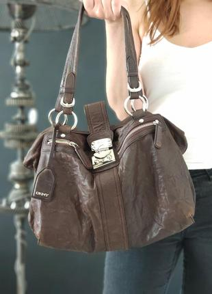 Dkny. сумка из натуральной кожи.