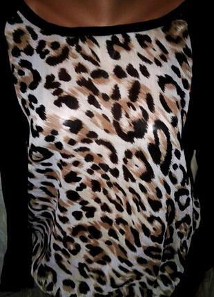 Приятная блуза вискоза + шифон