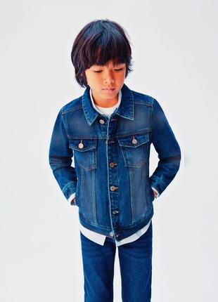 Детская джинсовая куртка на мальчика джинсовый пиджак детский джинсовка детская куртка