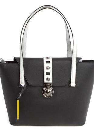 Черная с белым сумка cromia