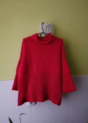 Красивый свитер гольф с добавлением шерсти united colors of benetton