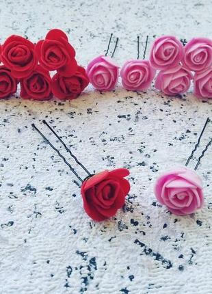 Шпильки розы цветы