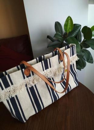 Стильна пляжна сумка