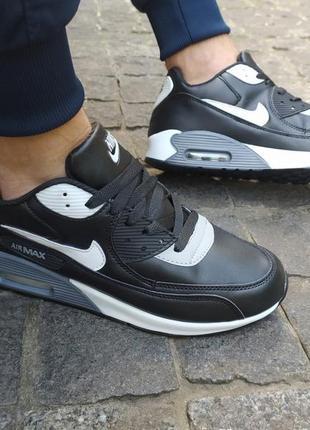 🔥мужские кроссовки nike air max черные 🔥