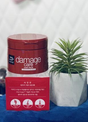 Укрепляющая маска для волос mise en scene damage care hair pack - 150 мл