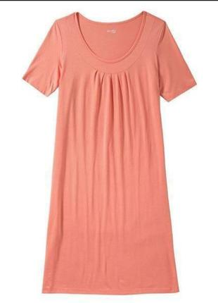 Коралловая ночная сорочка, ночнушка модал, пижама можно беременным
