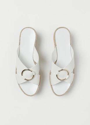Тапки шлепки шлёпанцы сандали на платформе эспадрильи оригинал h&m