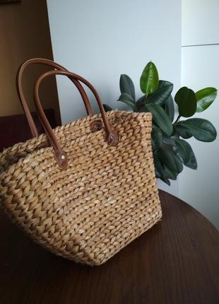 Стильна чоломяна сумка для прокупок