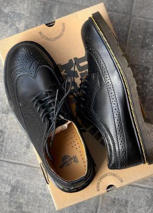 Мужские черные туфли dr. martens 3989 black