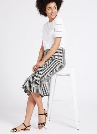 Очень красивая и стильная брендовая юбка в клетку