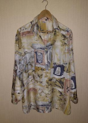Красивая шелковая блузка / рубашка c&a (англия) 100% шелк