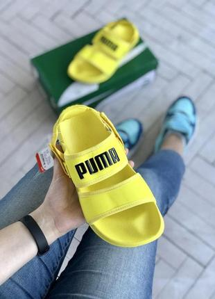 Шикарные женские тапочки puma sandals