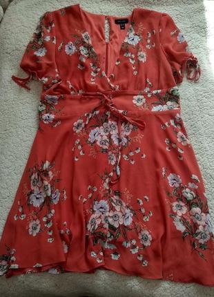 Сарафан платье в цветочный принт