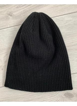 Шапка чоловіча чорна, мужская черная шапка.