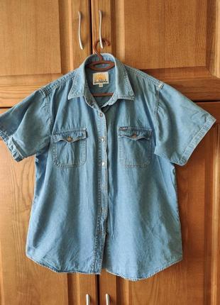 Стильна джинсова рубашка il sole, джинсовая рубашка