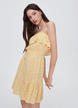 Sinsay летнее платье с съемными бретелями р.s