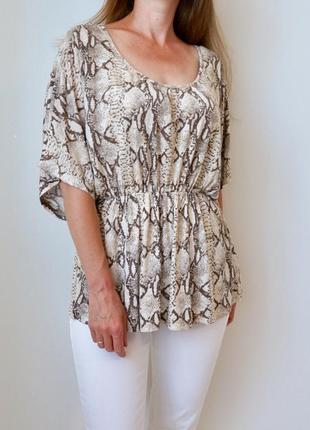 Блуза свободного кроя из вискозы h&m