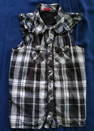 Клетчатая рубашка для девочки 10-11 лет