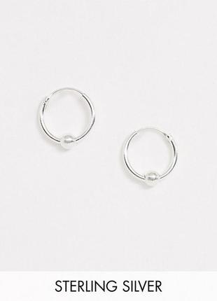 """Серебряные серьги-кольца с подвесками """"шарики"""" kingsley ryan с сайта asos"""