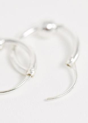 """Серебряные серьги-кольца с подвесками """"шарики"""" kingsley ryan с сайта asos3 фото"""