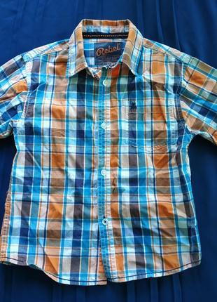 Рубашка в клетку для мальчика 6-7 лет