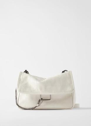 Белая сумка кошелёк zara