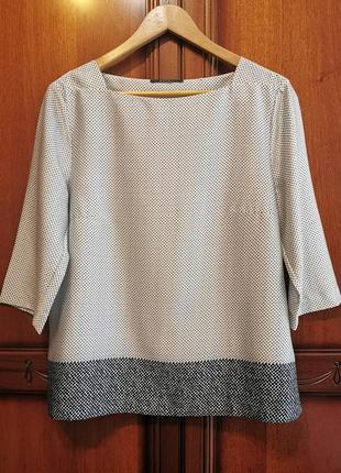 Esprit фирменная блуза#блузка#топ#рубашка в горошек.