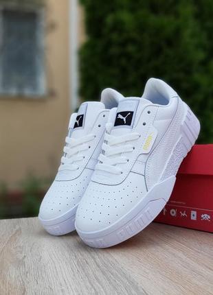 Шикарные трендовые женские кроссовки puma cali белые