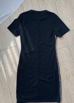 Мини платье, трикотажное платье с полосками по бокам от pull&bear