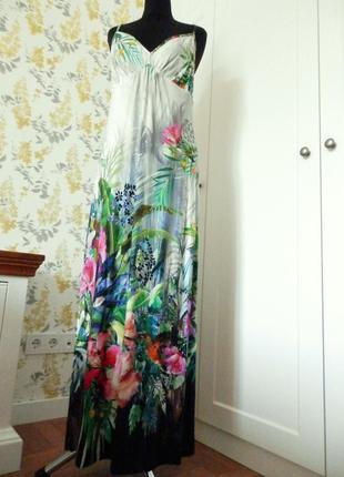 Захоплюючий мотив природи сукня макси платье, плаття літо в стилі ted baker