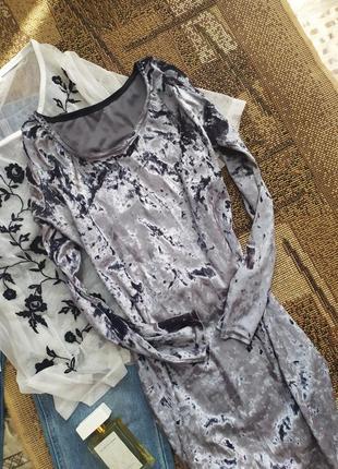 Платье велюр / бархатное велюровое / сукня / обтягивающее блестящее