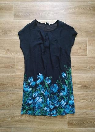 New look шифоновое платье на подкладке р.s