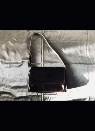Винтажная коричневая кожаная сумка кросс-боди, через плече
