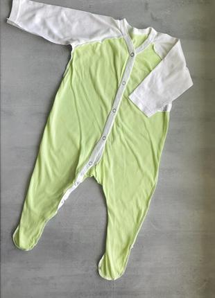Человечек слип пижама украина, салатовый, р. 62 {2-4 мес}