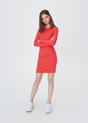 Sinsay базовое платье с длинным рукавом р.s