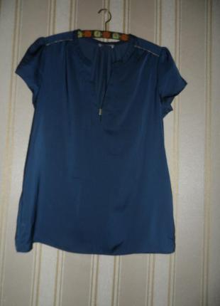 Блуза на лето / свободного кроя / летняя/ короткий рукав / размер 42 // xl