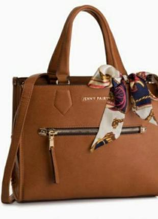 Кожаная брендовая женская сумка