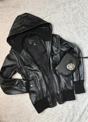 Куртка кожаная mango s