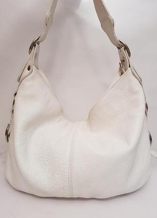 Роскошная дизайнерская кожаная сумка pat calvin белоснежного цвета