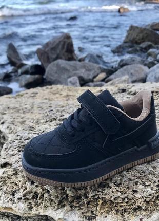 Чёрные кеды кроссовки 26-31