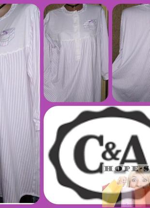 Домашнее прлосатое платье -футболка,ночная рубашка ,сорочка 52/62