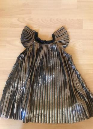 Нарядное платье плессе 2-3 года