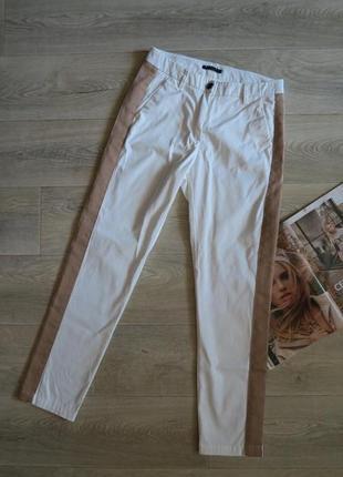 Брендовые летние брюки штаны с лампасами sisley