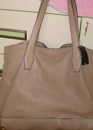 Новая , кожаная сумка шоппер warehouse . оригинал небольшой деффект