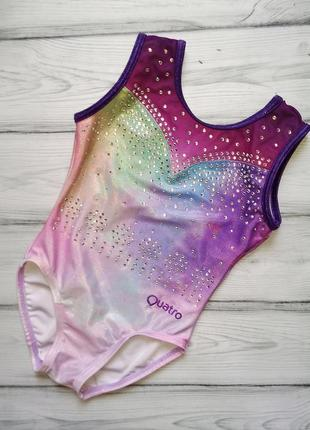 Красивый купальник quatro для танцев, гимнастики для девочки 5-7 лет