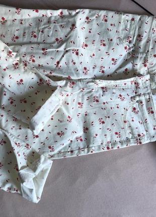 Летние штаны белые джинсы