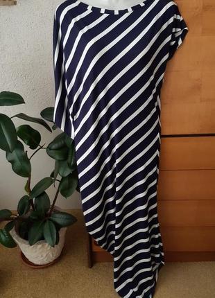 Шикарное платье-трансформер: 2 в 1, актуальный морской принт