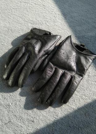 Перчатки с натуральной кожи estro, 6.5 размер